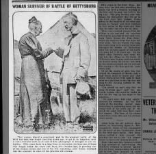 1913 photo of a nurse and a veteran who served at the Battle of Gettysburg
