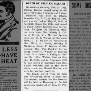 William Walker obituary