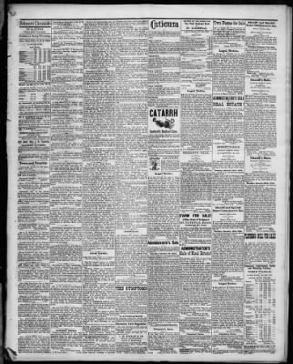 Belmont Chronicle From Saint Clairsville Ohio On January 12 1882