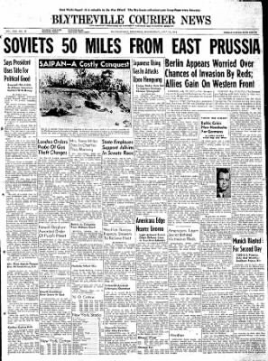 The Courier News from Blytheville, Arkansas on July 12, 1944 · Page 1