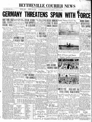 The Courier News from Blytheville, Arkansas on August 20, 1936 · Page 1