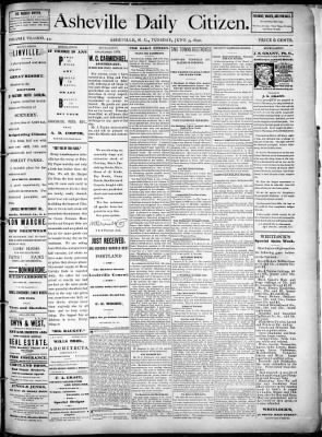 Asheville Citizen-Times from Asheville, North Carolina on June 3, 1890 · Page 1