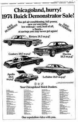 Tribune From Chicago Illinois On April Page - Buick dealers chicago