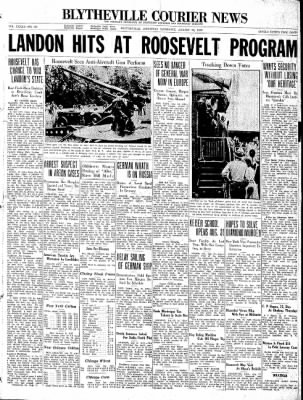 The Courier News from Blytheville, Arkansas on August 22, 1936 · Page 1