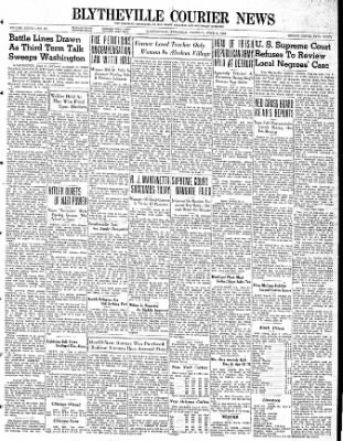 The Courier News from Blytheville, Arkansas on June 6, 1939 · Page 1