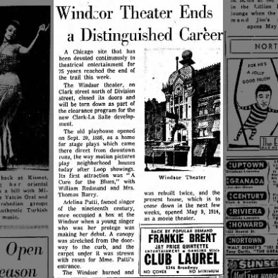 Windsor theater article