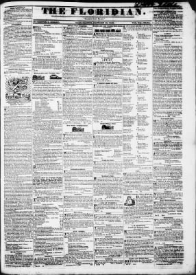The Floridian from Tallahassee, Florida on January 18, 1840 · Page 1