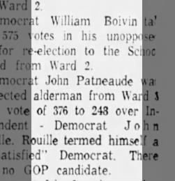 Aldermanic Results - March 1963
