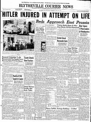 The Courier News from Blytheville, Arkansas on July 20, 1944 · Page 1