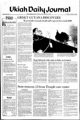Ukiah Daily Journal from Ukiah, California on November 24, 1978 · Page 1