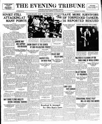 Marysville Journal-Tribune from Marysville, Ohio on October 4, 1941 · Page 1