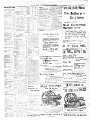 The Oil City Derrick from Oil City, Pennsylvania on March 8, 1899 · Page 7