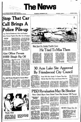 The News from Friendswood, Texas on December 22, 1977 · Page 1