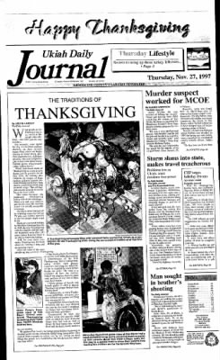 Ukiah Daily Journal from Ukiah, California on November 27, 1997 · Page 1