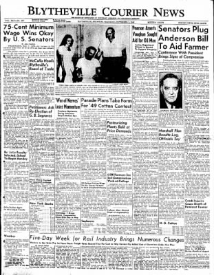 The Courier News from Blytheville, Arkansas on September 1, 1949 · Page 1
