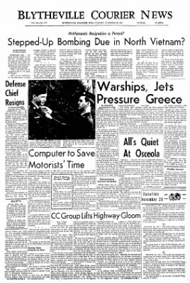 The Courier News from Blytheville, Arkansas on November 28, 1967 · Page 1