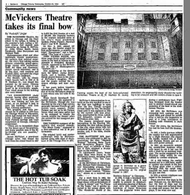McVickers theatre closing