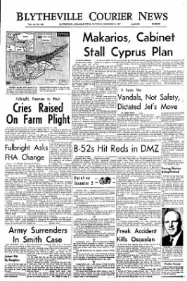 The Courier News from Blytheville, Arkansas on December 2, 1967 · Page 1