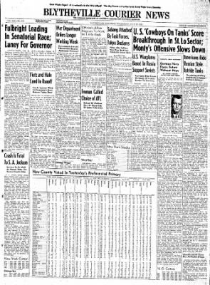 The Courier News from Blytheville, Arkansas on July 26, 1944 · Page 1