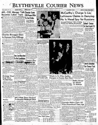 The Courier News from Blytheville, Arkansas on April 6, 1950 · Page 1