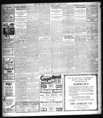 The New York Times From New York New York On April 26 1915 Page 4