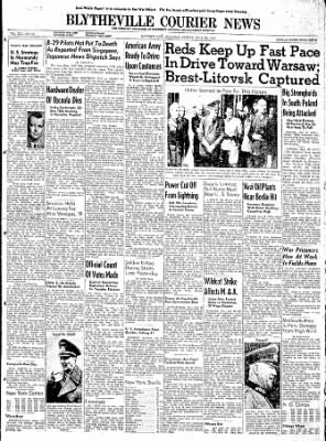 The Courier News from Blytheville, Arkansas on July 28, 1944 · Page 1