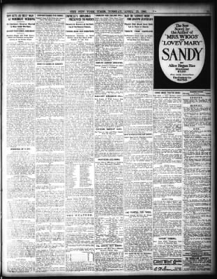 Kare Stehle york times from york york on april 25 1905 page 11