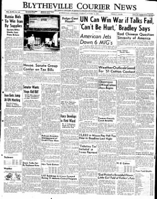 The Courier News from Blytheville, Arkansas on October 2, 1951 · Page 1