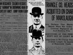 Picture of the owners of the Triangle Shirtwaist Factory, Blanck and Harris