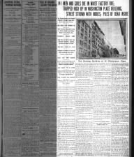Detailed New York newspaper account of the 1911 Triangle Shirtwaist Factory fire