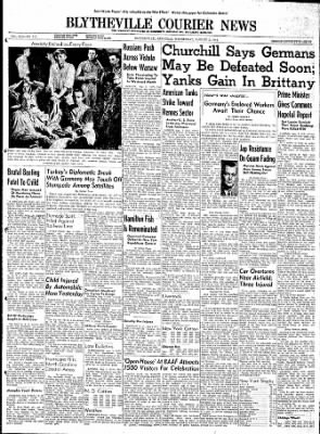 The Courier News from Blytheville, Arkansas on August 2, 1944 · Page 1