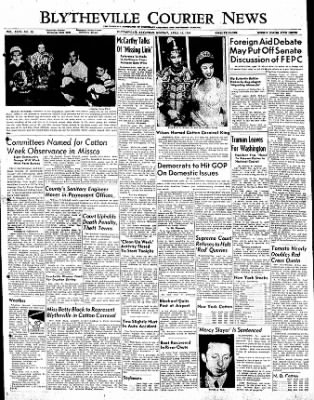 The Courier News from Blytheville, Arkansas on April 10, 1950 · Page 1