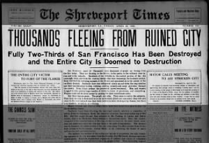 Thousands flee San Francisco in wake of 1906 earthquake and fires
