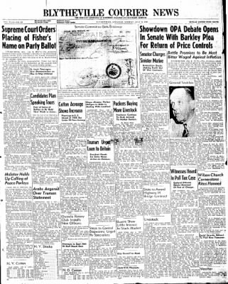 The Courier News from Blytheville, Arkansas on July 8, 1946 · Page 1