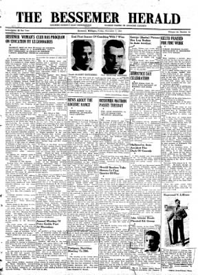 The Bessemer Herald from Bessemer, Michigan on November 7, 1941 · Page 1