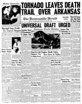 The Brownsville Herald from Brownsville, Texas on June 2, 1947 · Page 1