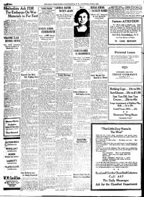 The Daily Messenger from Canandaigua, New York on July 8, 1939 · Page 2