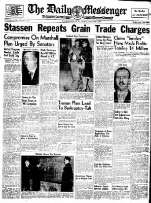 The Daily Messenger from Canandaigua, New York on January 9, 1948 · Page 3