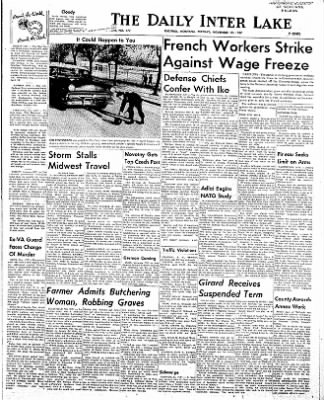 The Daily Inter Lake from Kalispell, Montana on November 19, 1957 · Page 1