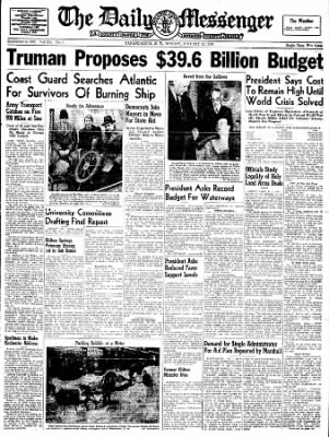 The Daily Messenger from Canandaigua, New York on January 12, 1948 · Page 3