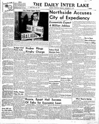 The Daily Inter Lake from Kalispell, Montana on November 21, 1957 · Page 1