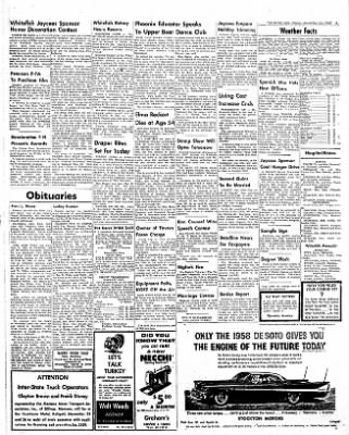 The Daily Inter Lake from Kalispell, Montana on November 22, 1957 · Page 3