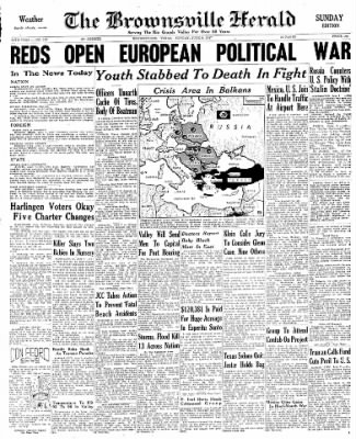 The Brownsville Herald from Brownsville, Texas on June 8, 1947 · Page 1