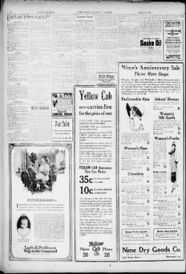 Yellow Cab Shreveport >> The Times From Shreveport Louisiana On April 12 1925 Page 32