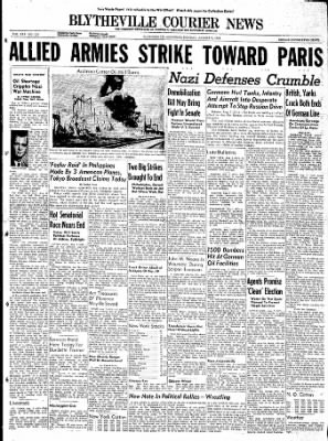 The Courier News from Blytheville, Arkansas on August 7, 1944 · Page 1