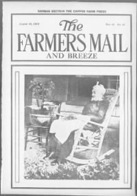 Sample Kansas Farmer and Mail and Breeze front page