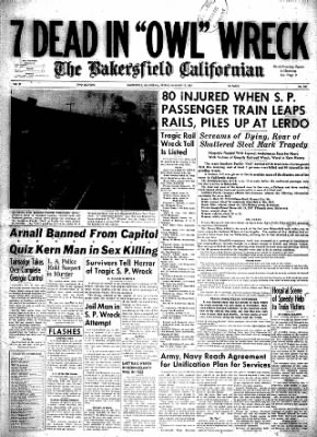 The Bakersfield Californian from Bakersfield, California on January 17, 1947 · Page 1