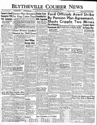 The Courier News from Blytheville, Arkansas on September 29, 1949 · Page 1
