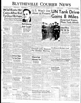 The Courier News from Blytheville, Arkansas on October 10, 1951 · Page 1