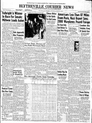 The Courier News from Blytheville, Arkansas on August 9, 1944 · Page 1
